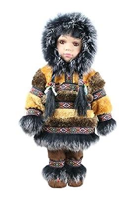 "ACE USA Collectible Native Alaskan Doll 12"" Porcelain with Parka"