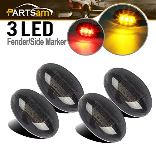 Partsam Replacement For Ford F350 F450 F550 1999-2010 LED Side Fender Marker...