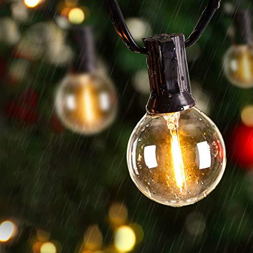 LED Lichterkette Glühbirnen IP65 Wasserfest, Avoalre G40 warmweiss 30 Glühbirnen LED Lichterkette Außen,10M Innen-/Aussenbeleuchtung Partylichterkette (Max. 170M) Ausdehnbar Outdoor Lichterkette
