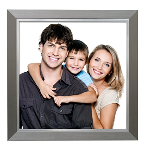 Deknudt Frames S41ND1 40 x 40 cornice grigio argento resina