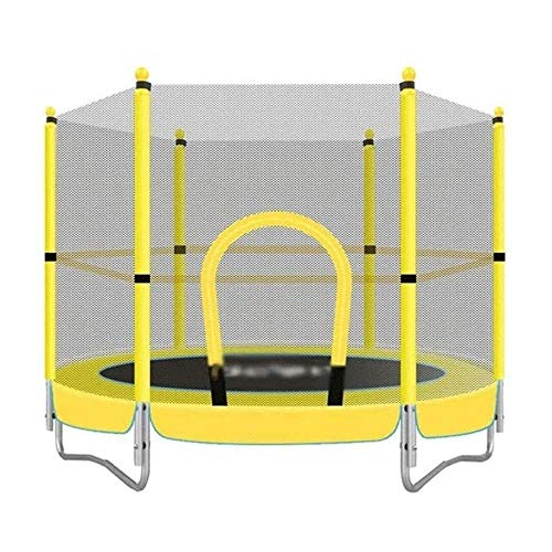 TBTBGXQ 48 Inch Trampoline 1.5m In Children's Room With Safety Net, Children's Entertainment Spring Jumping Bed