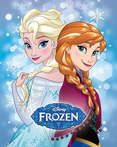 maxi & mini, motivo frozen la regina delle nevi Elsa, Anna, coperta plaid, colore: corallo, 120 x 150 cm, motivo: disney
