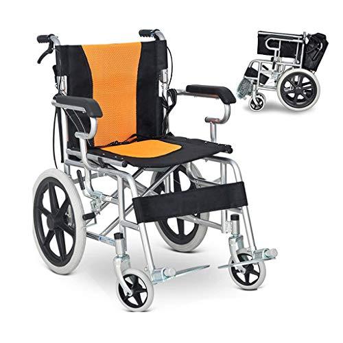 WRJY Rollstuhl Klappbarer Leichter Rollstuhl, ältere Menschen können zurückgeklappt Werden Tragbarer Rollstuhl, zusammenklappbarer Rollstuhl, geeignet für ältere Menschen, Behinder