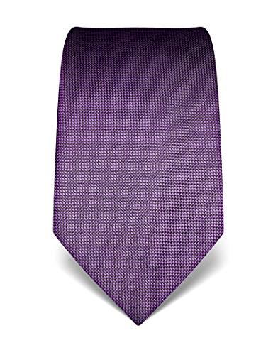Vincenzo Boretti Corbata de hombre en seda pura, texturada violeta