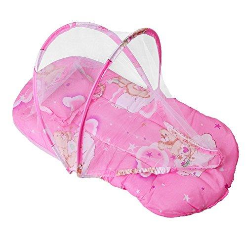 Inovey nieuwe opvouwbare baby katoen gewatteerde matras kussen warm bed muggen net wieg tent