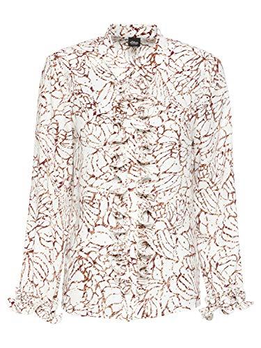 s.Oliver BLACK LABEL 150.10.012.10.100.2056391 Blusas, Color Crema (02a1), 38 para Mujer