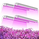 Freelicht LED Grow Light T8 4FT, 180W(4x250 Equivalent) 2-Row V-Shape Full Spectrum Plant...