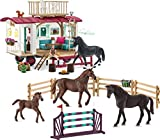 Schleich Horse Club Secret Training at the Caravan Educational Playset for Ages...