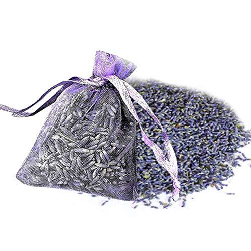 Natürliche Lavendel Beutel getrocknete Blume Duftsäckchen 12pack Getrocknete Lavendel Kleiderschrank Hochzeit Auto Raum Klima Refresh Hängen Sachet Bag Deodorization Raumdüfte Badezimmer for Wandschra