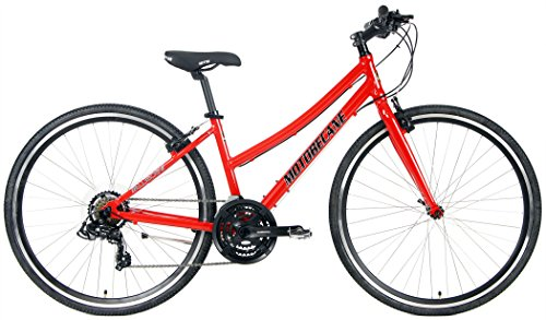 Motobecane 2018 Cafe 21 Speed Shimano Equipped Hybrid Aluminum Bicycle (Red, 20' Mens Frame Fits Most 5'9' to 5'11')