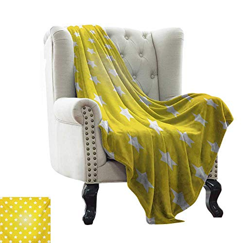 LsWOW - Manta para sofá, diseño Circular, Color Amarillo