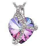 J.RENEÉ Collares Mujer, Colgantes Mujer, con Púrpura Cristal de Swarovski, Joyas para Mujer, Regalos para Mujer