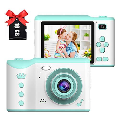 Appareil Photo numérique pour Enfants,Écran Tactile IPS HD 2,8 Pouces,Appareil Photo pour Enfants avec Double Objectif 18MP Pixel,Et Enregistrement vidéo Portable 720P (Vert)