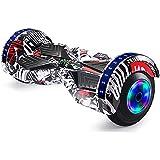 J&Z Hoverboard, Terrain Due Ruote 8'Smart, Self-Aligned Monociclo con Bluetooth E Colorato Roller...