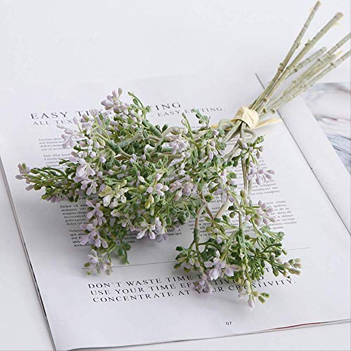 YYWK Simulatie bloemen zet bos lila fruit nep bloem thuis decoratie bruiloft bloem boeket plant potted bloem tuit groene plant