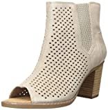 TOMS womens Majorca Peep Toe Fashion Boot, Desert Taupe Diamond Perforated Suede Mix, 8.5 US