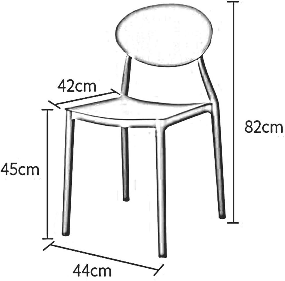 WYYY chaises Chaise De Salle À Manger En Plastique Lot De 2 Chaise De Table Antidérapant Empilable Chaise De Dossier Hauteur D'assise 45cm Durable fort (Color : Green) Red