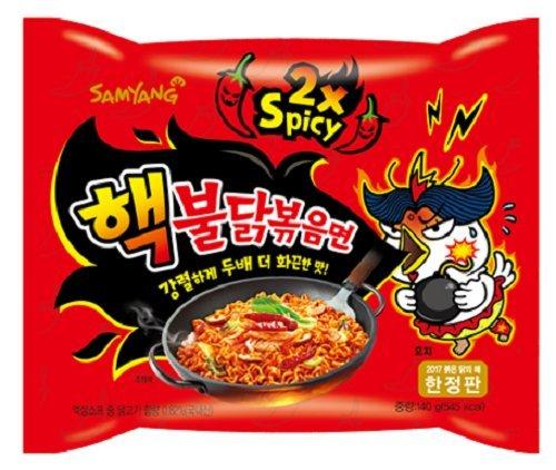 Sparen! 40x140g Samyang Doppel 2xHot Chicken Ramen Nudeln Koreanische scharfe Instantnudeln