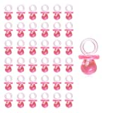 150 Pieces Mini Acrylic Baby Pacifiers for Baby Shower Decorations, Table Scatter, Party Favors, Games & Activities JUXINDA (Pink)