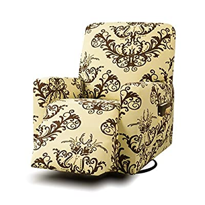 TIKAMI Stretch Printed Recliner Chair Covers Washable Sofa Slipcovers Furniture Protector with Remote Pocket for Pets and Kids