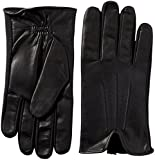 isotoner Stretch Leather Men's Gloves, Touchscreen Technology, Dual Liningisotoner Spandex Stretch Shortie Women's Gloves, Leather Palms, Black, MD