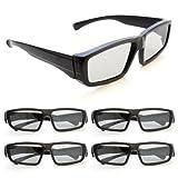 Ganzoo - Occhiali 3D per televisori 3D passivi, videogiochi PC e cinema RealD, a polarizzazione...