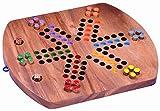 LOGOPLAY Ludo für 6 Spieler - Würfelspiel - Gesellschaftsspiel - Familienspiel aus Holz mit...