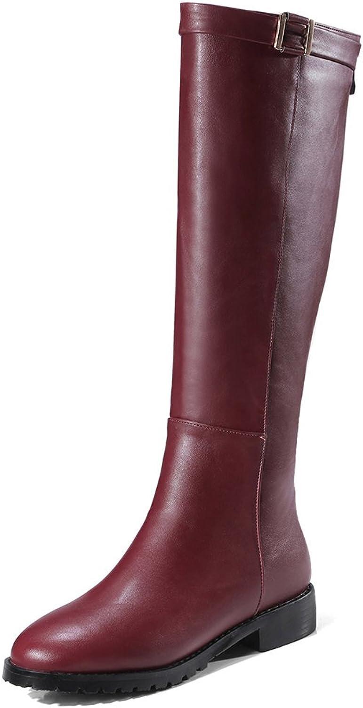 SaraIris Women Advanced PU Flat Platform Velvet Zipper Daily Appointment Booties