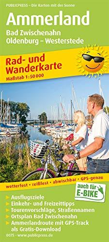 Ammerland, Bad Zwischenahn, Oldenburg - Westerstede: Rad- und Wanderkarte mit Ausflugszielen, Einkehr- & Freizeittipps, wetterfest, reißfest, ... 1:50000 (Rad- und Wanderkarte / RuWK)