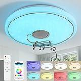 LED Deckenleuchte mit Bluetooth Lautsprecher 24W/36W (C-24W, APP & Fernbedienung)