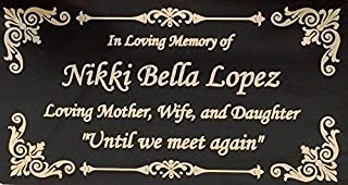"Beautifully Engraved Plaque, Plate, Name Plate in Black and Gold - 4.5"" x 2.5"""