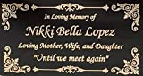 Beautifully Engraved Plaque, Plate, Name Plate in Black and Gold - 4.5' x 2.5'