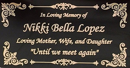 Beautifully Engraved Plaque, Plate, Name Plate in Black and Gold - 4.5
