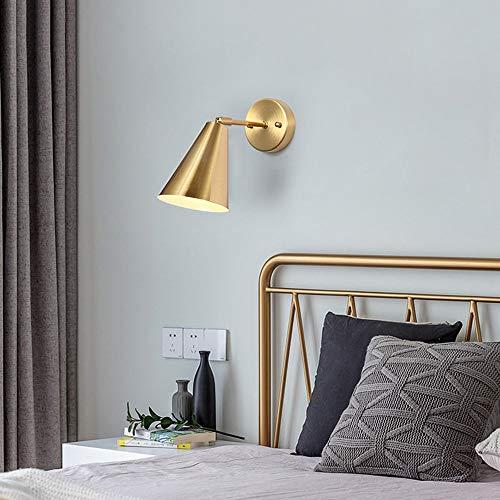De enige goede kwaliteit Decoratie Post-moderne Minimalistische Woonkamer Wandlamp Decoratie Achtergrond Wandlamp Slaapkamer Nachtkastje Hallway Nordic Koper Wandlamp 35 * 24cm