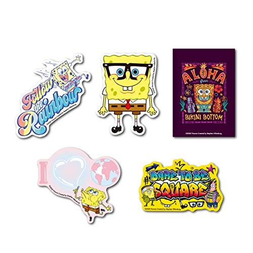 【通販限定デザイン全5種セット】 スポンジ・ボブ キャラクターステッカー まとめ買い アメリカ アニメ SpongeBob サイト限定商品 SPOSET03 gs 公式グッズ