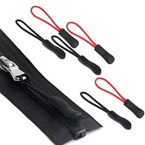 Xiuyer 100pcs Extensión Cremallera Nylon Zipper Pulls Reemplazo Etiqueta Repuesto Cordón Tiradores...