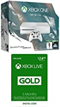 Xbox One 500GB White Console - Special Edition Quantum Break Bundle with Xbox Live 3 Month Gold Membership [Digital Code]