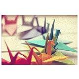 DLJIYZX Felpudo Origami Bird Pattern Floor Mats Entrada PVC...