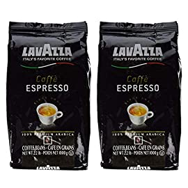 Lavazza Caffe Espresso Whole Bean Coffee Blend, Medium Roast, 2.2-Pound Bag (Pack of 2) 6 Two 2.2 lb. bag of Lavazza Caffe Espresso Italian whole coffee beans One 2.2 lb. bag of Lavazza Caffe Espresso Italian whole coffee beans Product of Italy