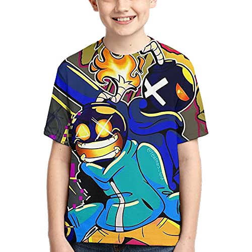 Friday-Night-Funkin camiseta 3D para niños, niñas, verano, casual, de manga corta, novio, novia, camiseta estampada