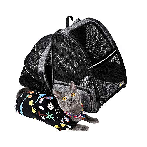 Texsens Cat Backpack Carrier, Super Breathable...