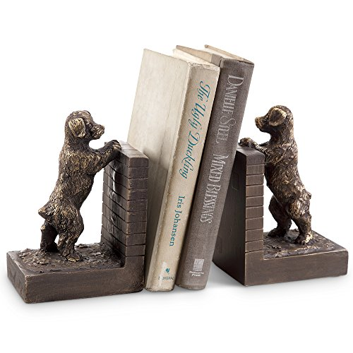 Perky Puppy Bookends