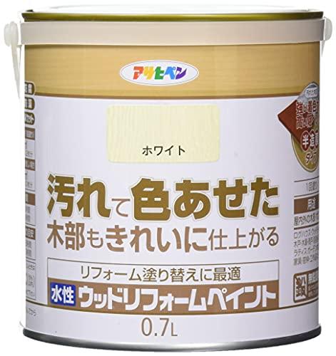 アサヒペン 水性ウッドリフォームペイント ホワイト 0.7L