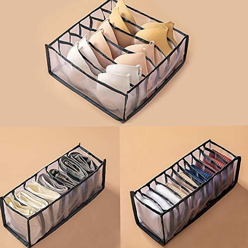 980IUHOP Schublade Divider Home Schlafsaal Kleiderschrank, Schrank Schrank Organisatoren, Unterwäsche BH Socken Panty Aufbewahrungsboxen (Grau,1 Set)