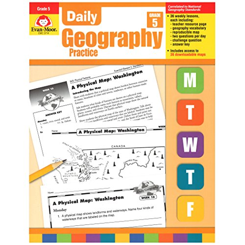 Evan-Moor EMC3714 Daily Geography Practice Book, Grade 5