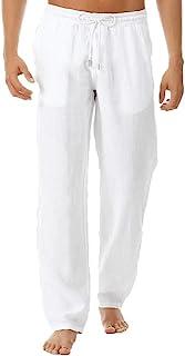 comprar comparacion VPASS Pantalones Hombre Verano Casuales Moda Deportivos Algodón y Lino Pants Color sólido Jogging Pantalon Fitness Suelto ...