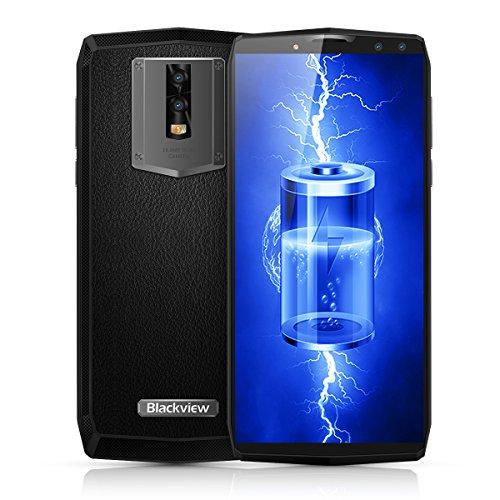 Blackview P10000 Pro - 4G LTE 6,0 18: 9 Smartphone, Android 7.1 Octa-Core 2,0GHz 4GB + 64GB, 4 Kamera, Gesichtserkennung, 11000mAh Rapid-Reload, 2-SIM-Telefon entriegelte Telefone
