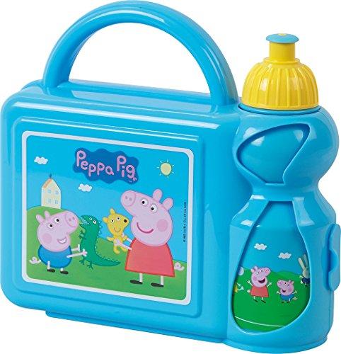 FUN HOUSE 005177Peppa Pig Pranzo Insieme di per Bambini Polipropilene Blu 27x 7x 19cm