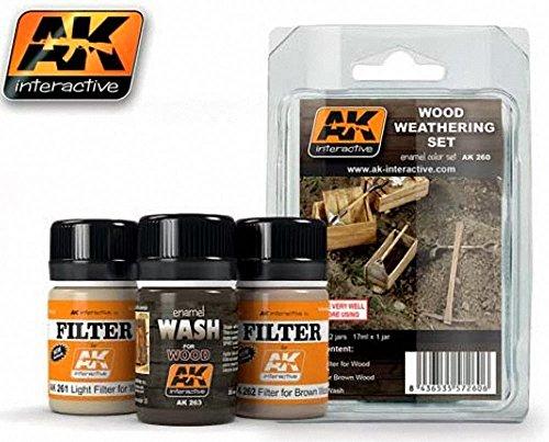 AK Interactive - Wood Weathering Set