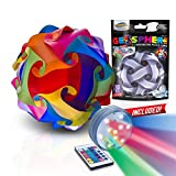 GEOSPHERE 12 Inch - 30 pc Rainbow Colors Puzzle Lamp Kit Complete with Wireless LED Light